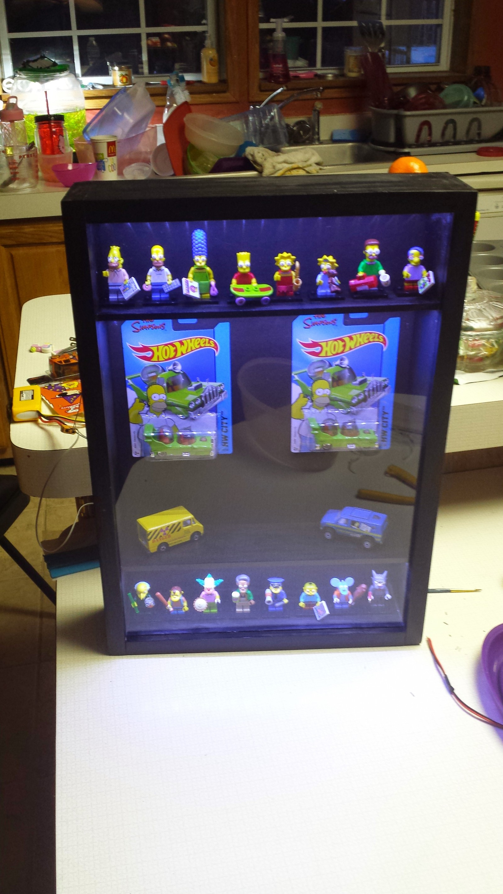 Custom Lego Minifigure and Hot Wheels Shadowbox – HNet Inc